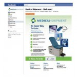 Facebook Welcome page for Medical Shipment